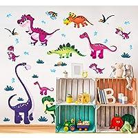 Suwhao Dinosaur Wall Stickers Children Room Home Decor Dinosaur Vinyl Kids Room Decal Baby Nursery Decor