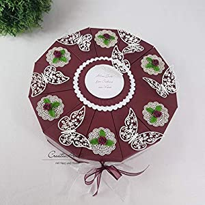 Schachteltorte Romantic Butterfly BORDEAUX Geldgeschenk Torte Hochzeit Geschenkidee
