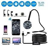 Best CrazyFire Waterproof Phones - USB Endoscope,3 In1 USB Inspection Camera IP68 Waterproof Review