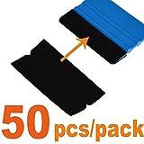 Ehdis® 10x4.8cm Accesorios Felt Squeegee Tela borde del rasguño suave libre seco mojado de fieltro raspador para el coche de envolver 3M escobilla de goma 50PCS / paquete (no incluido escobilla de goma)