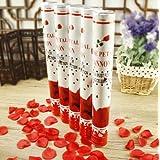 10 Rosen Party Popper Konfettikanonen mit Roten Rosenblüten 40cm Konfetti Shooter Rosenregen für Hochzeit,Valentinstag & Geburtstag Konfettibome