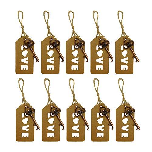 Wicemoon Schlüsselanhänger Love Tag Metall Schlüssel Flaschenöffner Keychain Handtasche Rucksack Key Anhänger Dekoration(10pcs) -