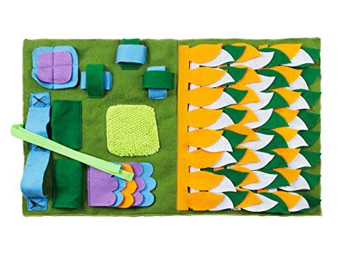 IFOYO Dog Feeding Mat, Dog Snuffle Mat Small/Large Dog training Pet Pad naso lavoro coperta antiscivolo Pet tappetino da gioco per Foraggiamento abilità, alleviare lo stress, (S, L)