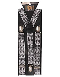 Tiekart men monochrome suspenders