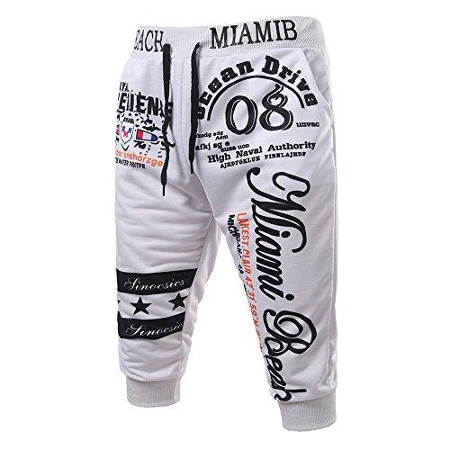 orts Herren Bermudas Sommer Summer Trousers for Women Caprihosen Hose Jeansrock Kurze Hose Herren Sweatpants Kurz ()