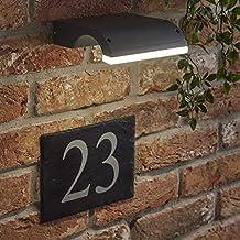 Biard Aplique Mural 10W Curvo Luz Mural Antracita Iluminación Interior o Exterior – Jardín Baño Resistente
