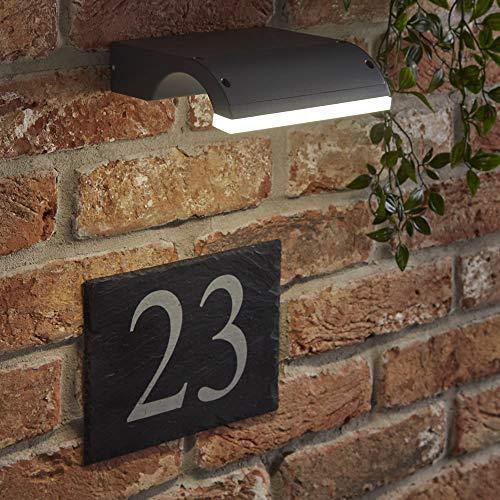 Biard Livada Applique LED 10W IP54 da Parete con Design Curvo in Antracite per Interni ed Esterni – Lampada Impermeabile per Bagni Giardini sopra-Specchio
