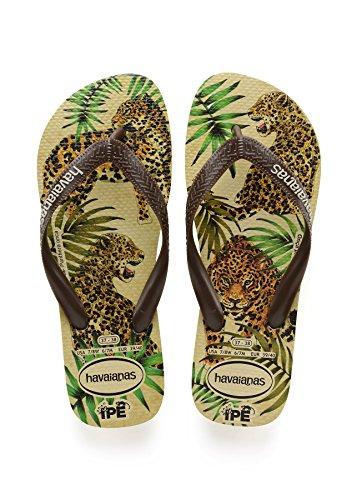 Havaianas Ipe Flip Flops - Beige/Brown UK 1011