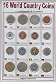 #4: Coins & Stamps World Coins 16 Different Countries