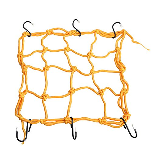 Andux Zone Motorcycle Cargo 6 Hooks Hold Down Net Bungee WD-01 (Yellow) Test