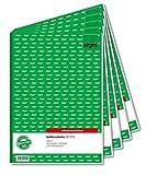 Entrega Sigel SD015 nota 2 veces impresa recibo, 1º y 2º hoja, A4, 2x40 hoja, presión, 5-pack sensibles