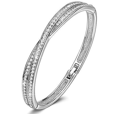 LADY COLOUR Kreuz Armband Damen mit Kristallen von Swarovski Schmuck muttertagsgeschenke Weihnachtsgeschenke geburtstagsgeschenke valentinstag geschenk geschenke für frauen mütter mama zum