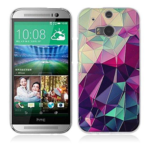 Gift_Source HTC One M8 Hülle, HTC M8 Hülle, [Bunter Würfel] Hülle Case Transparent Weiche Silikon Schutzhülle Handyhülle Durchsichtig TPU Crystal Clear Case Backcover Bumper Case für HTC One M8 (Htc M8 Bunte Fall)