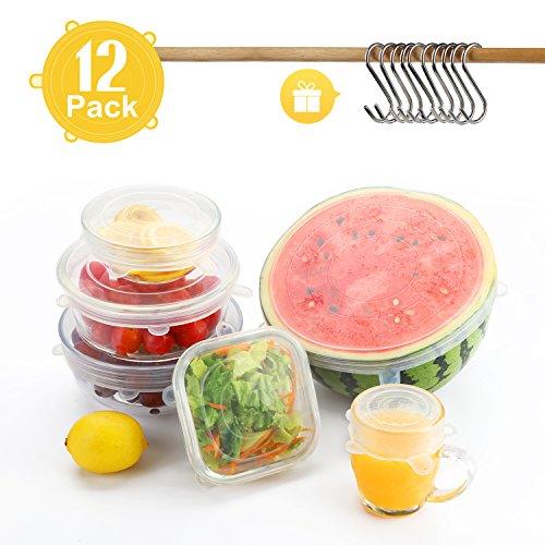 Tapas Elásticas de Silicona, Besfair 12 Pack