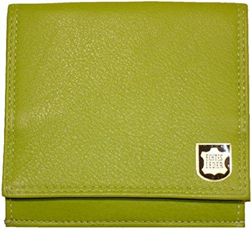 Josephine Osthoff Handtaschen-Manufaktur Leder Geldbörse Wiener Schachtel Limone m.RFID-Schutz 8 Kartenfächer RV-Fach