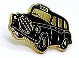 British London Souvenirs schwarz Taxi Cab Auto Automarke Taxi Fairway Driver Pin Badge | Hohe Qualität Metall Emaille Pin Badge Revers Brosche Neuheit zum Sammeln Geschenk Schmuck für Kleidung Shirt Jacken Mäntel Krawatte Hüte Kappen Taschen Rucksäcke