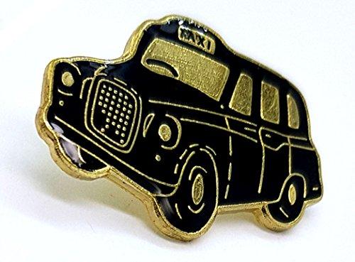 London Schwarz Taxi Anstecknadel - Metall und Emaille / Britisches Abzeichen / Andenken aus England Großbritannien / Black Cab / Hackney