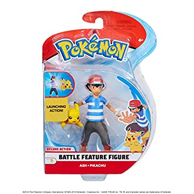 Pokèmon 98121 4.5 Pulgadas Ash & Pikachu Figuras, sin Color por WICKED COOL