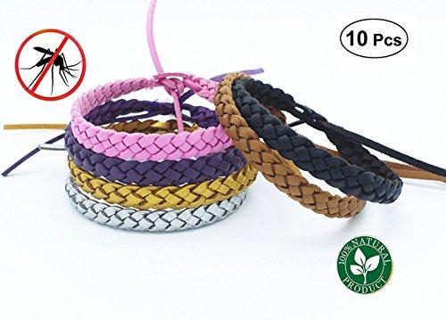 Sinwind Moskito Anti Mücken Armband Mückenarmband 10 Stück Repellent Armbänder Insektenschutz Naturals Mücken Armband Insektenschutz für Outdoor und Indoor
