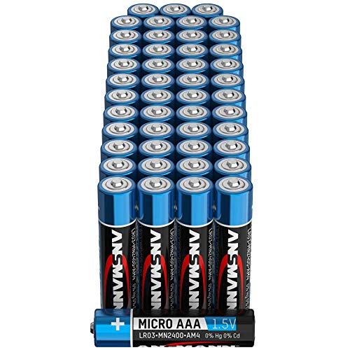 ANSMANN Batterien AAA Alkaline Größe LR03 - AAA Batterie für Küchenwaage (48 Stück Vorratspack)