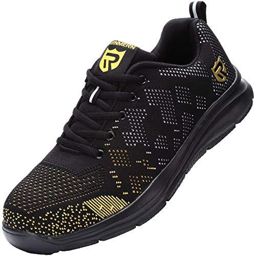LARNMERN Sicherheitsschuhe Damen, Stahlkappen Schuhe Reflektierend Arbeitsschuhe Sicherheitsstiefel Atmungsaktiv Industrie Schuhe Sicherheitssneaker LM-112