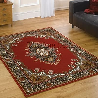 Flair Rugs Element Lancaster Traditional Rug, Red, 120 x 160 Cm - cheap UK light store.