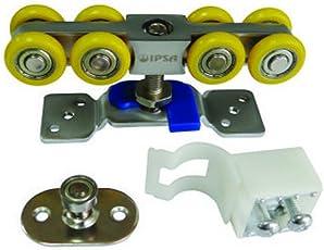 IPSA SL02 Sliding Roller for Wooden Door, Capacity 100Kgs, One Set
