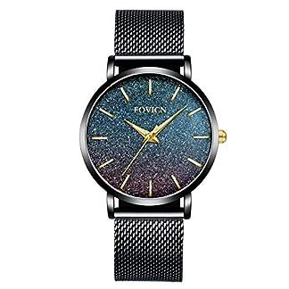 Ultradnne-Uhren-fr-Frauen-Wasserdichte-Mesh-schwarz-Edelstahl-mit-Gold-Mode-Damenuhr-Analoge-Quarz-weibliche-Armbanduhr-Geschenk