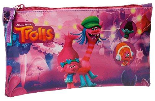 Trolls-4824051 Estuche portatodo, Color Rosa, 22 cm (Joumma 48240)