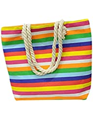 Bolso a bandolera Clode® Moda Mujer aleatorio Print Canvas Bolso Simple hombro Messenger bolsa multicolor Colour : Multicolore Medium