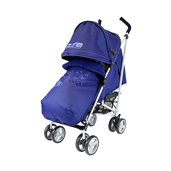 Zeta Vooom (2017) - Navy (Hearts & Stars) Complete With Footmuff And Raincover Zeta-Cpmlt Super Amazing Quality ( Built To Stand Out!) Brand New And Boxed Complete Package Highly Padded Footmuff (with Hands Warm Pocket)/shoulder 2