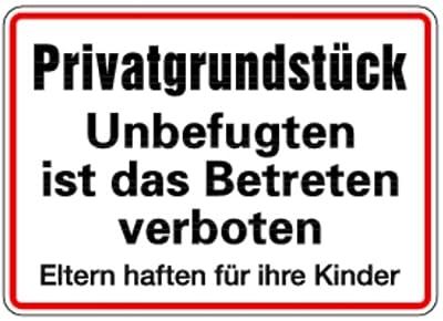 LEMAX® Schild Privatgrundstück Unbefugten ist das Betreten verboten Alu 250 x 350 mm (Privatbesitz, Hinweisschild) wetterfest