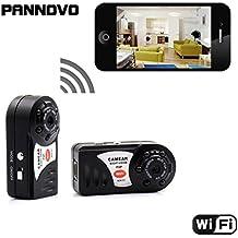 mini oculto Cámaras IP P2PWiFi, Cámara de Video Digital Espía Con Función de Visión Nocturna Grabador de video inalámbrico para iPhone/Teléfonos Android/ iPad/ PC