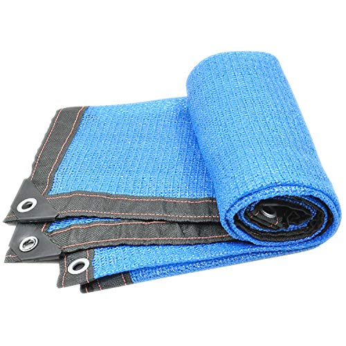 ANUO Schatten Tuch 90% Sun Canopy Schatten Tuch, Rechteck UV-Block Für Patio Deck Yard Und Outdoor-Aktivitäten Sand Lightweight Plant Cover (Color : Blue, Size : 13.2x16.5ft/4x5m) -