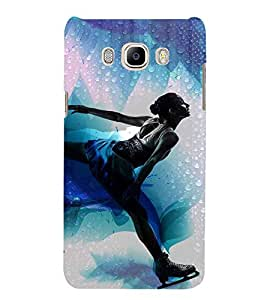 PrintVisa Designer Back Case Cover for Samsung Galaxy J7 (6) 2016 :: Samsung Galaxy J7 2016 Duos :: Samsung Galaxy J7 2016 J710F J710Fn J710M J710H (Cricket Ball Bat Stumps Runs Sore Goal Player )