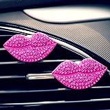 Hunpta Auto Loving Geschenk Air Outlet Duftenden Parfüm Clip Lips Freshener Diffuser (Hot Pink)