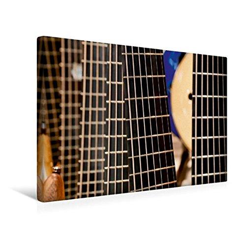 Calvendo Premium Textil-Leinwand 45 cm x 30 cm quer, Gitarre | Wandbild, Bild auf Keilrahmen, Fertigbild auf echter Leinwand, Leinwanddruck Kunst Kunst