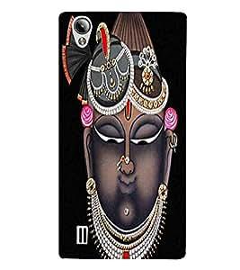 Shri Krishan Ji , Black, Banke Bihari Lal Ji, Lovely Pattern, Printed Designer Back Case Cover for Vivo Y15S :: Vivo Y15
