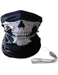 Gosear® Pasamontañas de Calavera Máscara, Braga de Cuello con bandana pañuelo diseño de calavera