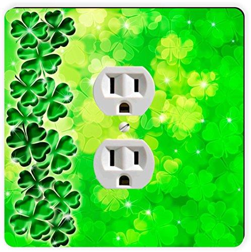 Rikki Knight Four Leaf Clover auf Shamrock Irish einzigen Steckdose Teller (Shamrock Teller)