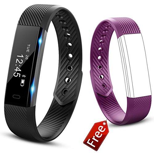 JIUXI Fitness Armband Wasserdicht IP67 Fitness Tracker Aktivitätstracker Smartwatch mit Schrittzähler Kalorienzähler Schlafüberwachung Uhr Message Benachrichtigung für Android iOS Kinder Frauen Männer