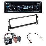 Einbauset : Autoradio Kenwood KDC-300UV CD Tuner + DIN Radioblende Blende schwarz + ISO-Adapter (Rund-Pin) für Mini (R50) 04/2001 - 11/2006 One/Cooper • Mini / Cooper S • Mini (R52)