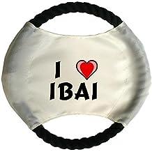 Frisbee personnalisé pour chien avec nom: Ibai (Noms/Prénoms)