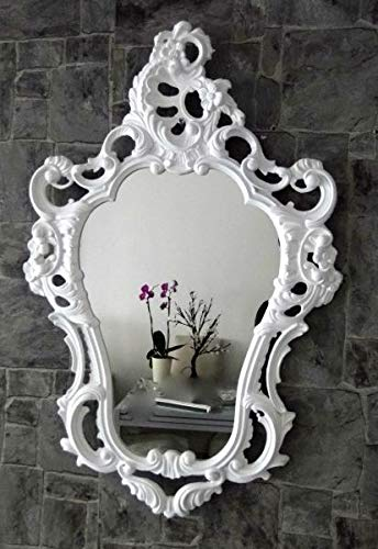 Artissimo Barroco Espejo de Pared Blanco Barroco Ovalado Brillante Juvenil Lactancia baño Espejo 50X 763039