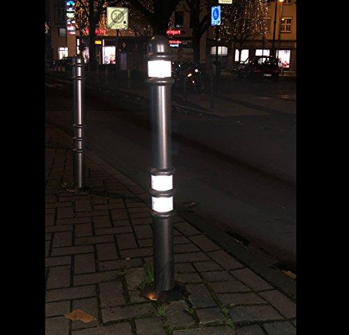 4 Meter Hochwertiges Reflektorband Zum Aufkleben Und Selbst Zuschneiden Wetterfestes Reflektionsband Warnklebeband Reflektierend Und