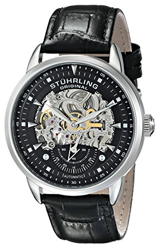 Stuhrling-Original-Symphony-Aristocrat-Executive-Mens-automatic-Watch-with-Black-Dial-Analogue-Display-and-Black-Leather-Strap-13333151