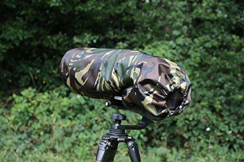 nschutz/Regenhülle für Nikon 200-400 F4 G ED VR I & II Wasserdicht & Transporttasche DPM Tarnung Nylon ()