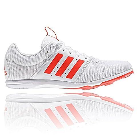 adidas Allroundstar Junior Chaussures De Course Pointes - Blanc/Rouge, 3.5