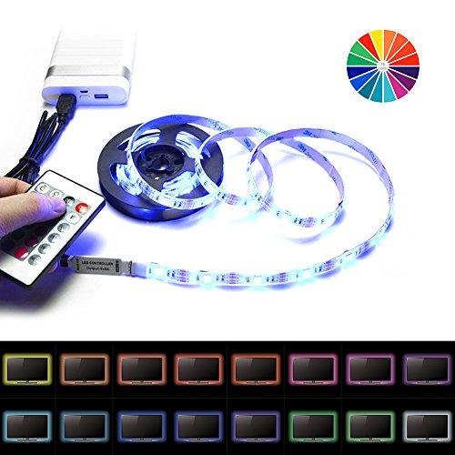 LED Strip Surenhap TV Backlight USB LED Streifen IP65 Wasserdicht Fernbedienung für TV Aquarium usw.