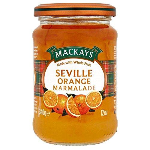 Mackays natürliche Frucht Sevilla Orangenmarmelade (340g) - Packung mit 6 (Fox Kuchen Pan)